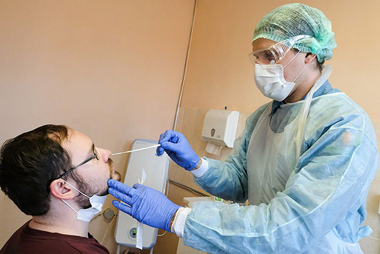 Проверка на коронавирус в Туле