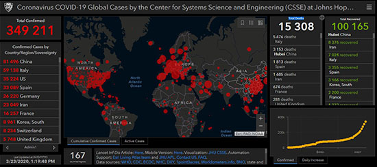 Список стран с коронавирусом